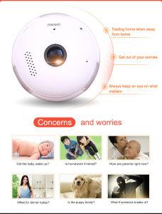 Wip014小型Fisheyeの球根パノラマ式のカメラ360度のホームセキュリティーライトカメラのWiFi IPの