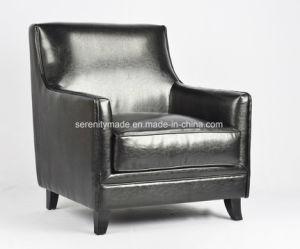 高品質イタリア様式の上の贅沢で黒い革によって装飾されるソファーのラウンジチェア
