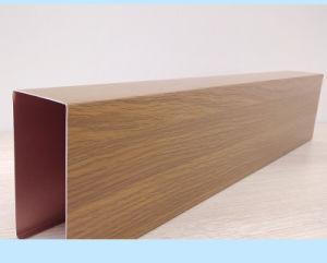 La Chine de gros de céréales en bois de conception architecturale de carreaux de décoration en aluminium