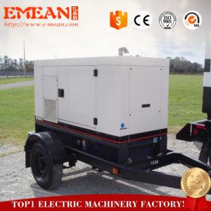 Prix bon marché 30kVA Groupe électrogène Diesel mobiles avec quatre roues de remorque
