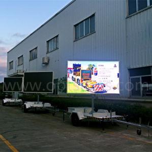2017p 360 de levage hydraulique rotatif Hotsales P6 P8 P10 commande à distance la lecture de vidéo mobile Affichage LED de la remorque de la publicité
