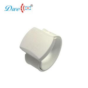 Faixa de pulso branca do silicone RFID da freqüência ultraelevada do Tag 900MHz da escala longa