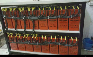 電気通信FL12-100ahのための前部ターミナルゲル電池の細い電池