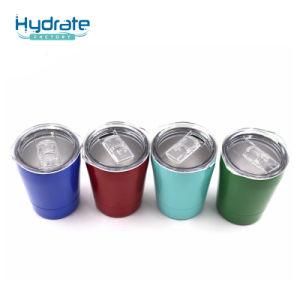 En acier inoxydable de tasse de café à double paroi avec bouchon en plastique