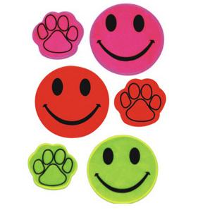 Presente promozionali sorridenti svegli degli autoadesivi riflettenti dei fronti