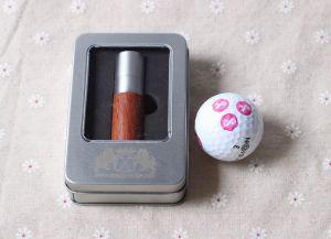 Timbres de boules de golf en métal avec boîte cadeau