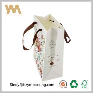 Оптовая торговля печати CMYK толстых бумажных мешков для пыли с помощью рукоятки