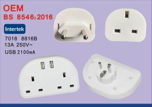 USB를 가진 영국 여행 전원 플러그 접합기 변환기에 BS8546 보편적인 EU