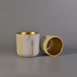 La candela di ceramica della vernice della tazza della glassa della Cina stona all'ingrosso