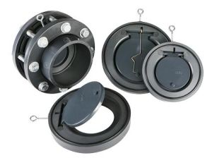 Clapet anti-retour de disque de PVC