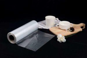 Saco de tela plana de polietileno transparente no saco de LDPE de HDPE de Rolo