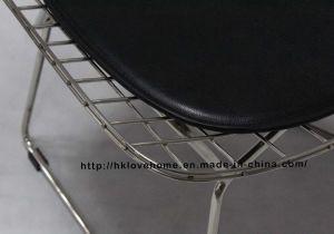 ダイニングレストランKd Metal Bertoia PUクッションクロームワイヤーチェア