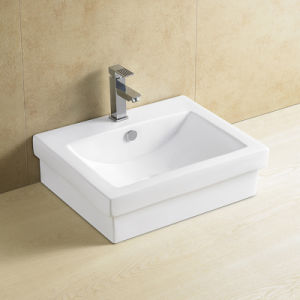 Quadratisches keramisches Amerika-Standardwäsche-Bassin
