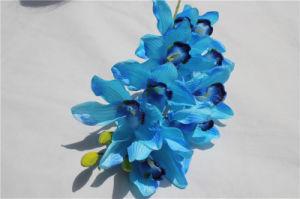 ホーム装飾のための実質の接触ブルーオーキッドの人工花