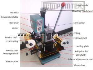Manual de 500 W Mini máquina de carimbar película quente