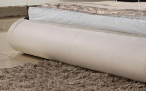 Moda Hot-Selling cama em pele genuína Branco Europeu (HC552)