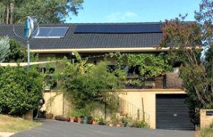 400W Turbina Eólica Vertical e o sistema de painéis solares para uso doméstico