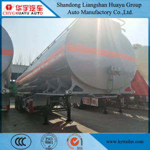 Eje 3 30.000l/40000L/50000L Acero al carbono o acero inoxidable/depósito de aleación de aluminio/camión cisterna semi remolque para combustible/aceite/diesel/gasolina/crudo/agua/transporte de leche
