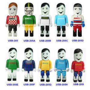 いろいろな種類の微笑の人USBの使用のフラッシュ駆動機構(USB-205)