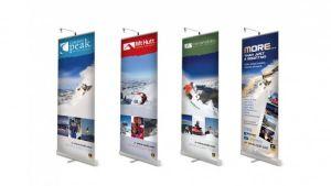 Verkäufe Custom Promotion Advertizing Display Roll oben