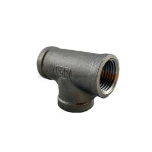 Accessori per tubi dell'acciaio inossidabile del gomito SS304 (T filettato)
