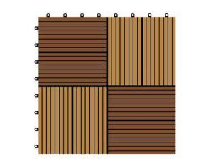 別のカラーおよびデザインWPC DIY Decking Tilestilesの試供品のタイル
