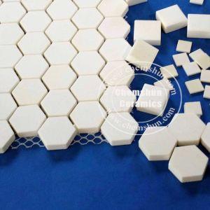 China cerámica alúmina alfombra mosaico hexagonal de los fabricantes de cerámica