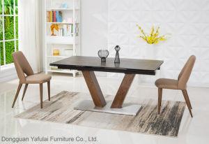 Keramische moderne Extensions-hölzerne Stahlspeisetisch-Möbel