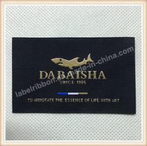 Etiquetas tejidas a mano de lujo etiquetas para prendas