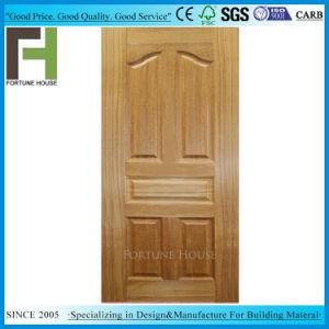 Placage en bois de teck naturel MDF/HDF moulé de la peau de porte