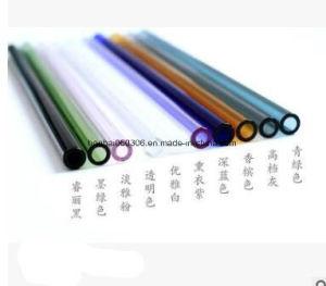 青い200mmの10mm再使用可能でまっすぐなガラス飲むわら、6のセット、緑の、マルチカラーオレンジ、紫色、灰色ピンク