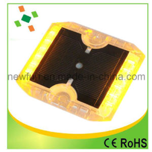 12PCS点滅LEDの耐久のプラスチック太陽道のスタッド