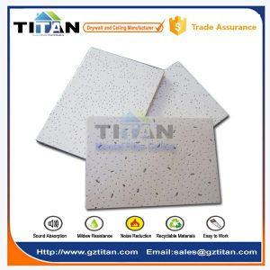 Azulejo Acústico de Techo de Fibra Mineral