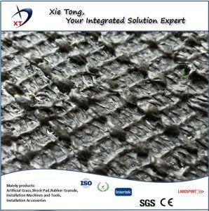 Buena capacidad de soporte forma de V suave paisaje de césped artificial sintético