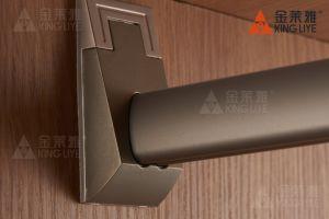 Perfil de ligas de alumínio Mobiliário metálico guarda-roupa de tubo tubo Heartshape Conjunto de armário de rampa de injecção