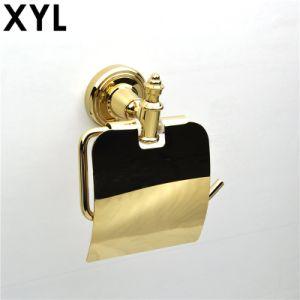 Accessoires de bain en plaqué or pour les décorations de luxe