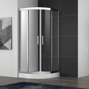 Gabinete de chuveiro de correr em aço inoxidável com estrutura e alças duplas