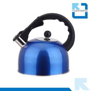 3Lの赤くか青または金ステンレス鋼の台所用品のやかんの笛を吹くやかん