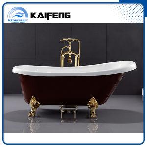 Rojo clásico de la UPC Clawfoot acrílico bañera (KF-721C)