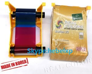 互換性のあるリボンのシマウマのリボン800033-340 Ymcko 280の画像のForzebra Zxp3のカードプリンター