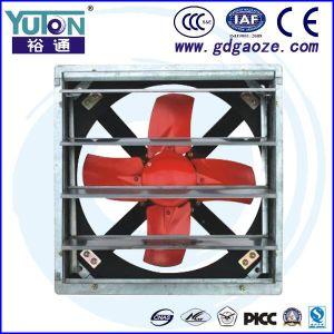 Alta eficiencia industriales Exhause bajo ruido de ventilador con el obturador