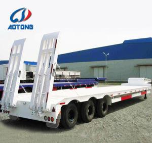 Los ejes de 50-80extensible de 3-5 toneladas bajo la cama semi Trailer
