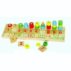 Contagem de Madeira & corresponde ao número de brinquedos a (81410)