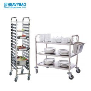 En acier inoxydable Heavybao 18-tier multifonctions chariot en rack pour 40X60 Cm casseroles & 1/1 Gn casseroles