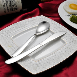 Garfo de talheres de aço inoxidável 18/10/Spoon/Knife jantar set para o varejo