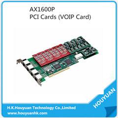 16 FXS/FXO avec PCI-TDM Einterface Téléphone AX1600p x1600p