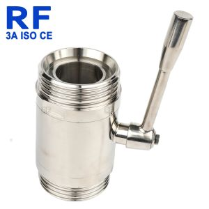 Marcação ce de RF ISO 3um novo estilo de Comando Manual da Válvula de Esfera asséptica