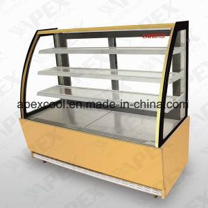 Refrigerador vitrina de bolos com cor dourada