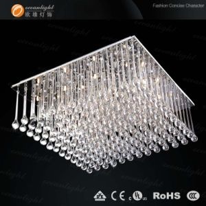 La máxima calidad Lujo moderno candelabro de cristal decorativas de iluminación de techo Om813-30