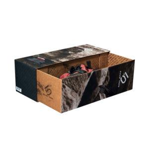 Impresos personalizados fabricante de zapatos de los hombres de lujo en caja de cartón de embalaje papel